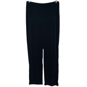 Chicos Travelers Black Slinky Stretch Pants 2 L 12